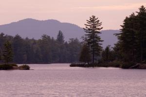 Forked Lake at sunset.