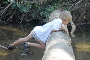 Sean on the creek, age 5.