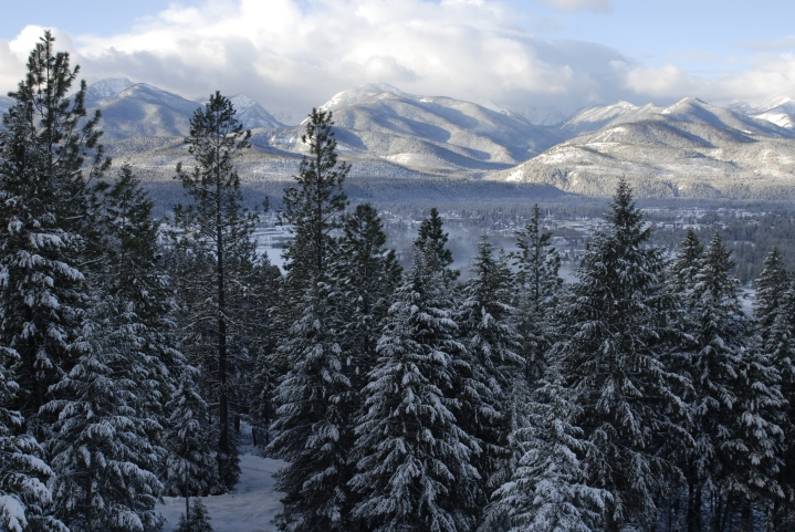 View over the Cabinet Mountains in northwest Montana