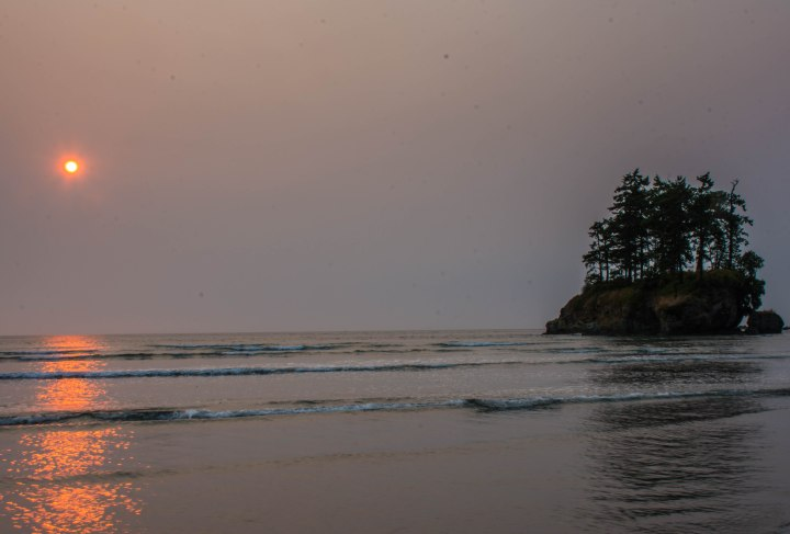 Sunset - BC wildfires - Salt Creek